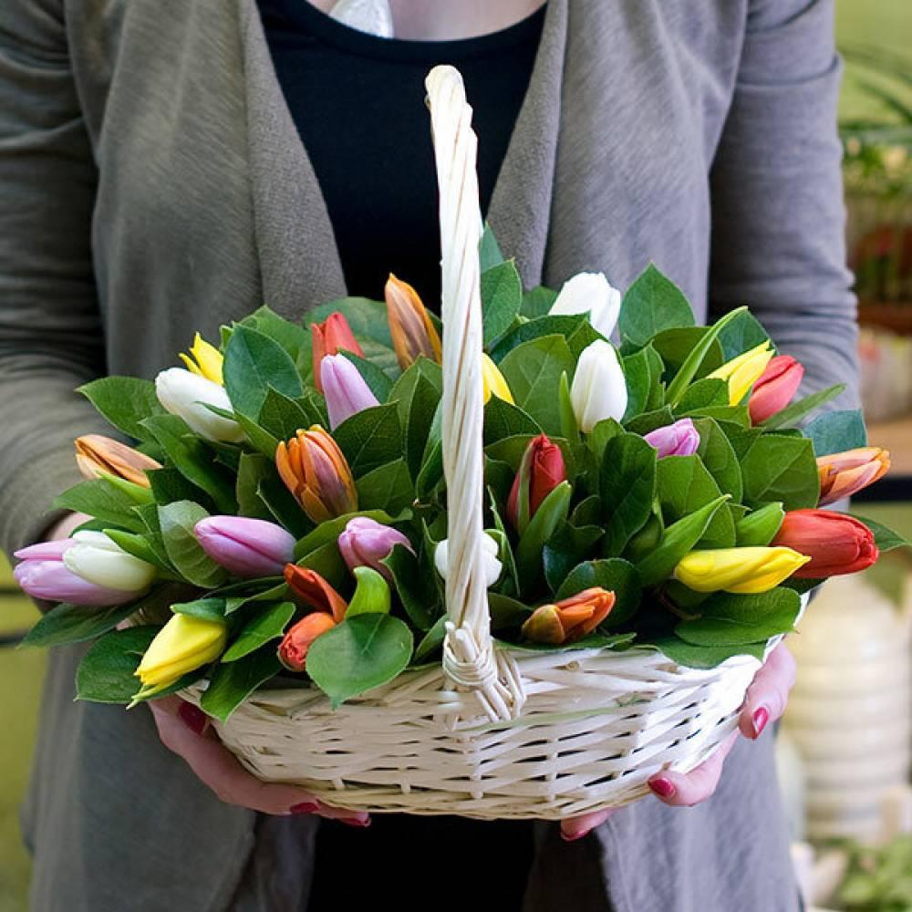 красивые букеты с тюльпанами фото