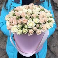 25 кустовых роз в коробке R561